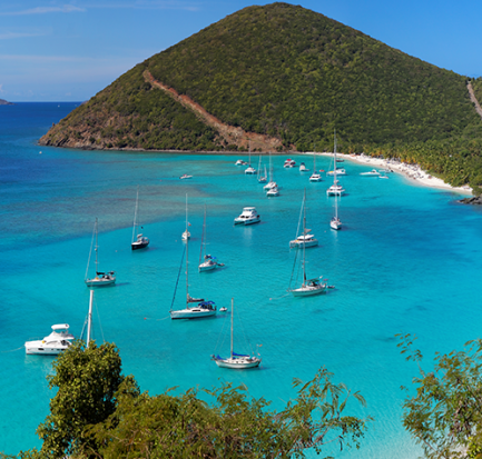 British Virgin Islands - Yachtcharter - Bucht ©-Guido-Amrein