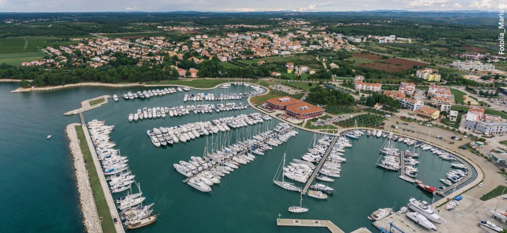Novigrad Marina Croatia Aerial Drone Photo